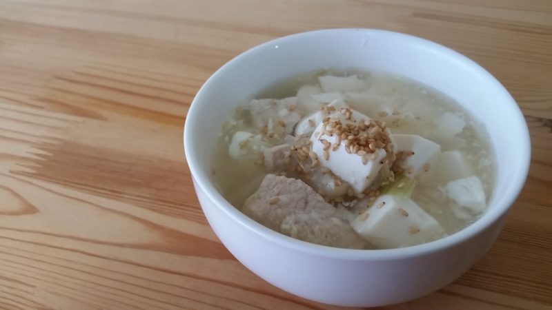 豆腐オニオンスープ