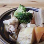 豆腐と鶏肉の煮物