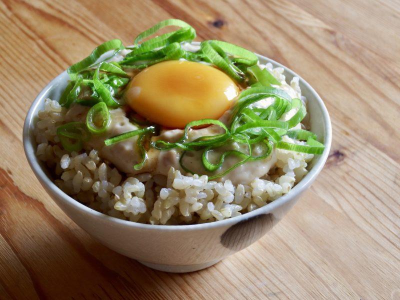 1万回混ぜた豆腐納豆ご飯