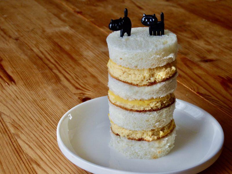 豆腐と厚焼き卵サンド