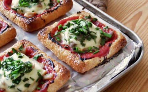 油揚げ豆腐ピザ