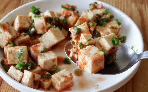 豆腐のケチャップ和え