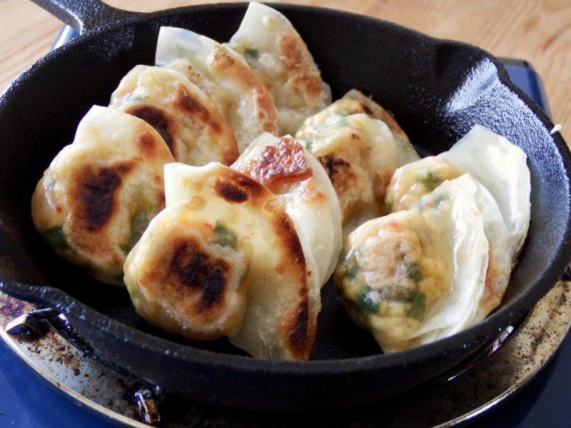ネギたっぷり豆腐キムチの一口餃子