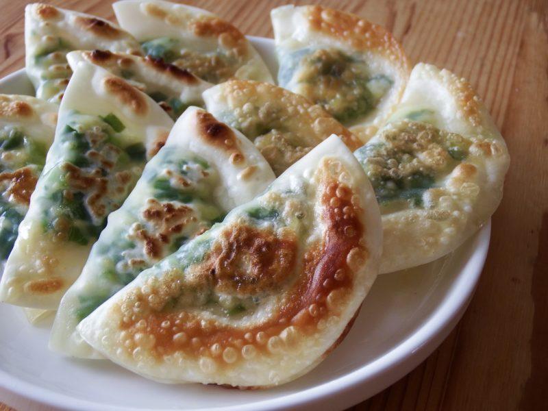 豆腐とニラのパリパリ揚げ餃子