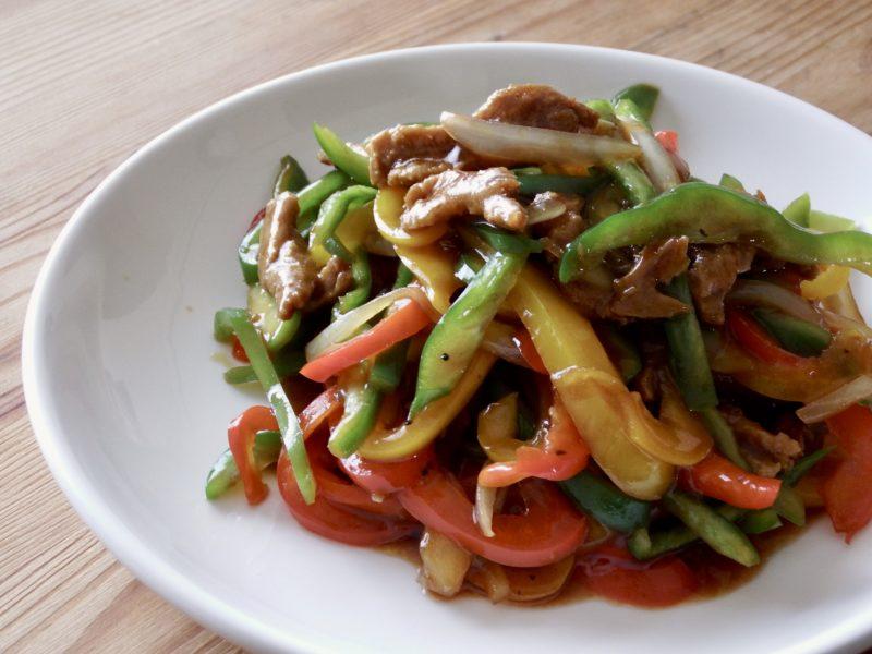 大豆ミートの青椒肉絲