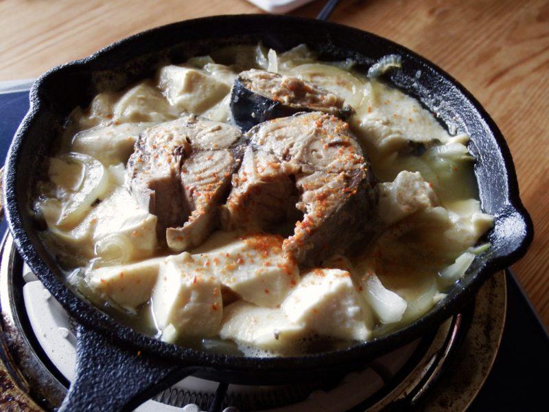 豆腐サバ煮込み