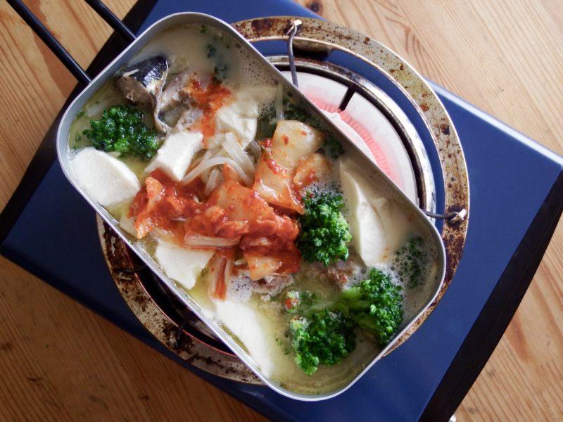 豆腐ともやしたっぷり!豆乳キムチスープ