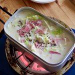 春キャベツとベーコンの豆腐コンソメスープ