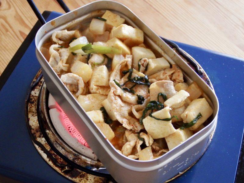大根豆腐ステーキの豚キムチ