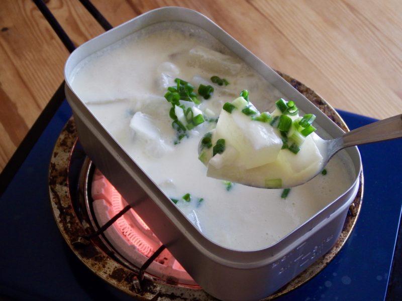 豆腐と大根のクリームスープ
