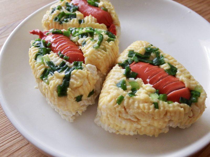 ウインナー卵の豆腐おにぎり