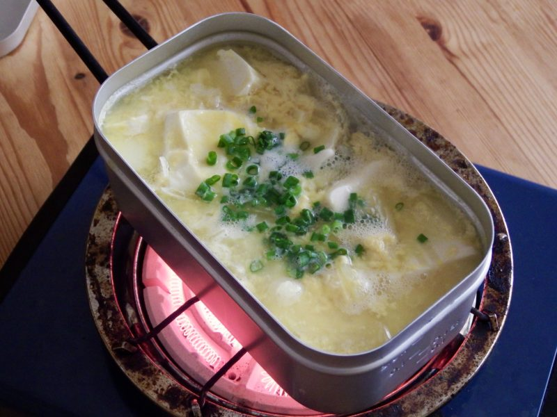中華風豆腐卵スープ