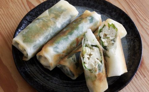 豆腐と大葉の春巻き