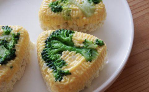 ブロッコリーと卵の豆腐おにぎり