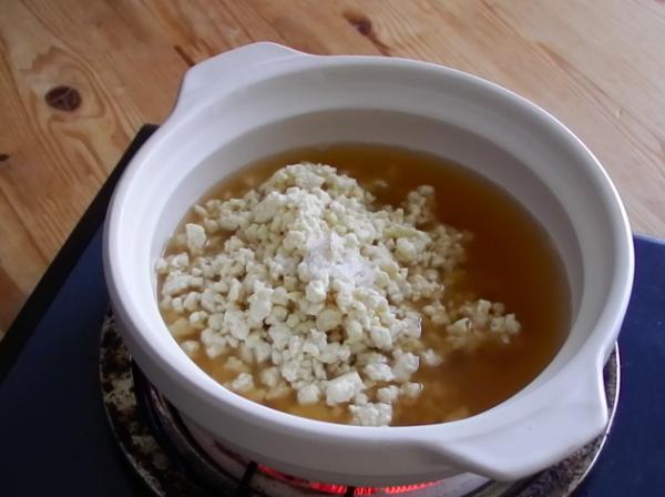 オートミール豆腐茶粥 作り方