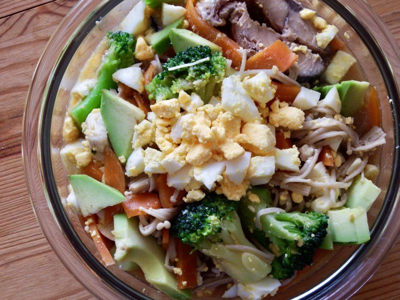 超低糖質の温野菜えのきサラダ