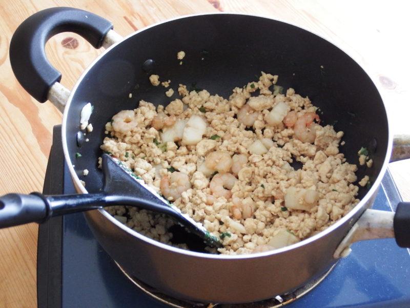 シーフード豆腐チャーハン 作り方