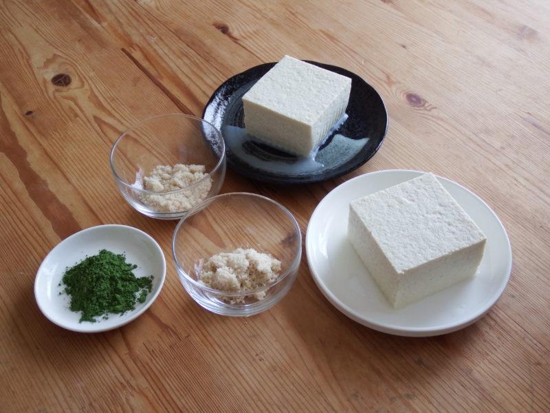 冷凍しない豆腐アイス 材料