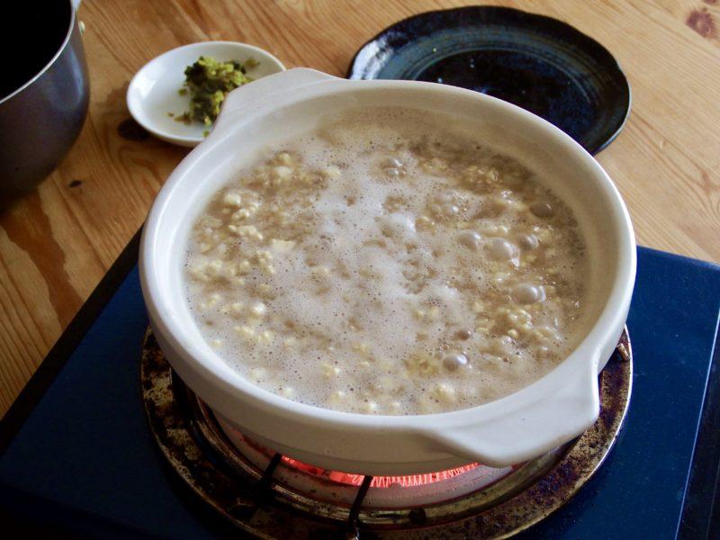 オートミール豆腐茶粥