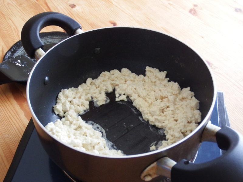 豆腐高菜チャーハン 作り方