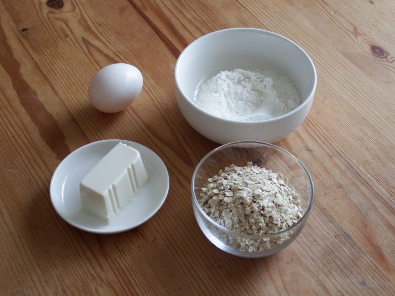 もちプチ食感!オートミール豆腐蒸しパン 材料