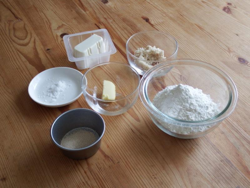 豆腐の白パン 材料