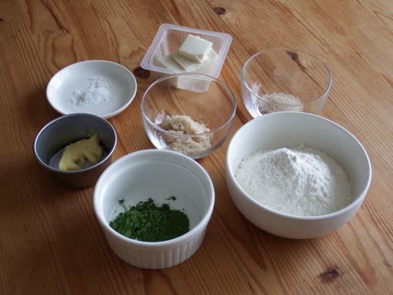 ほろ苦!抹茶うずまきミニ豆腐パン 材料