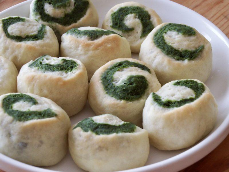 ほろ苦!抹茶うずまきミニ豆腐パン