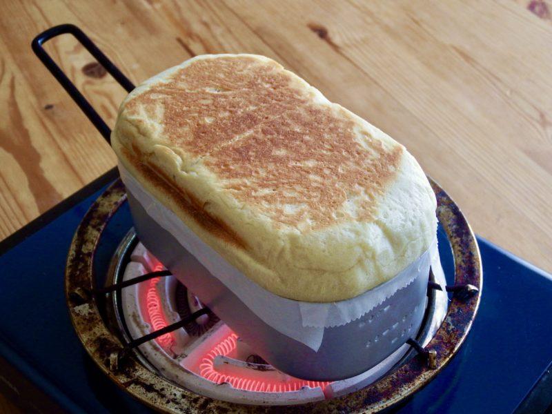 メスティン豆腐パン