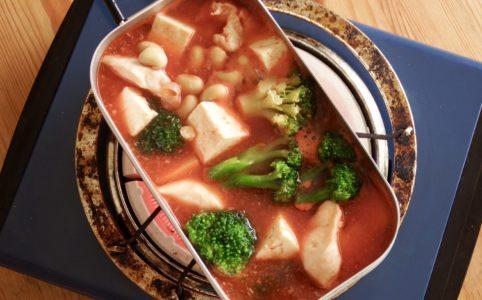 チキンビーンズ豆腐トマトスープ