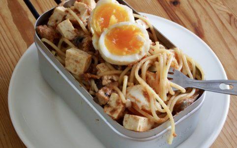 トマト風味のダイエット豆腐パスタ