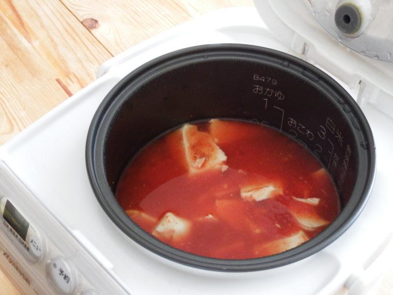 絹豆腐とトマト缶の甘々スープ 作り方